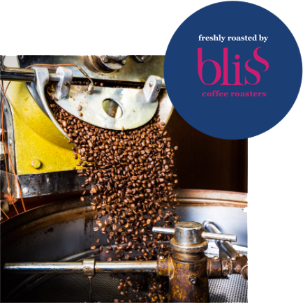 Bliss Coffee Roasting with Logo
